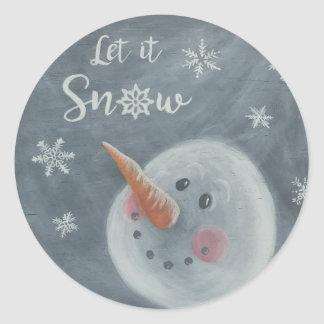Snowman Let it Snow sticker