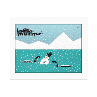Snowman Lonely Monsters Canvas Print