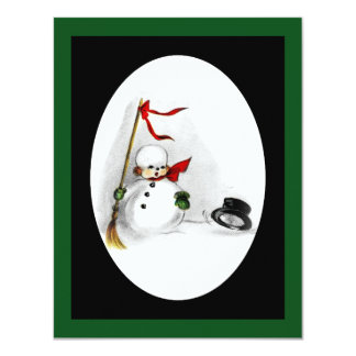 Snowman Loses His Top Hat 11 Cm X 14 Cm Invitation Card