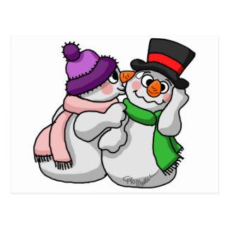 Snowman Love Postcard