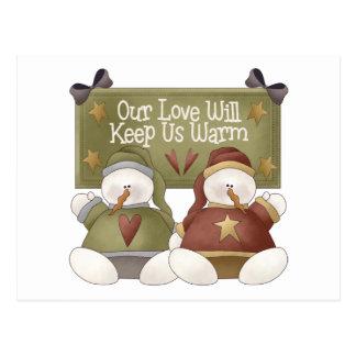 Snowman Love Postcards