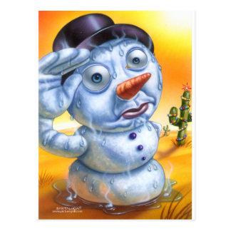 snowman_melting post card
