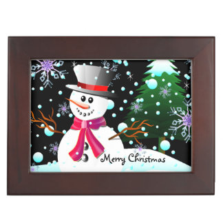"Snowman ""Merry Christmas"" Keepsake Box"