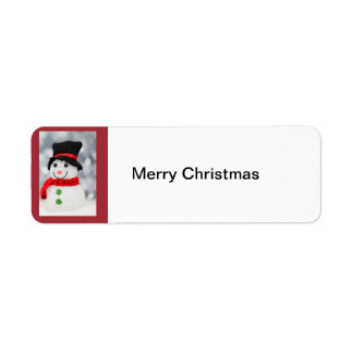 Snowman, Merry Christmas label