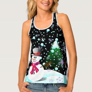 "Snowman ""Merry Christmas"" personalised Singlet"