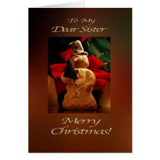 Snowman Merry Christmas  - Sister Card