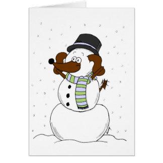 "Snowman Midge ""Merry Christmas & New Year"" Card"
