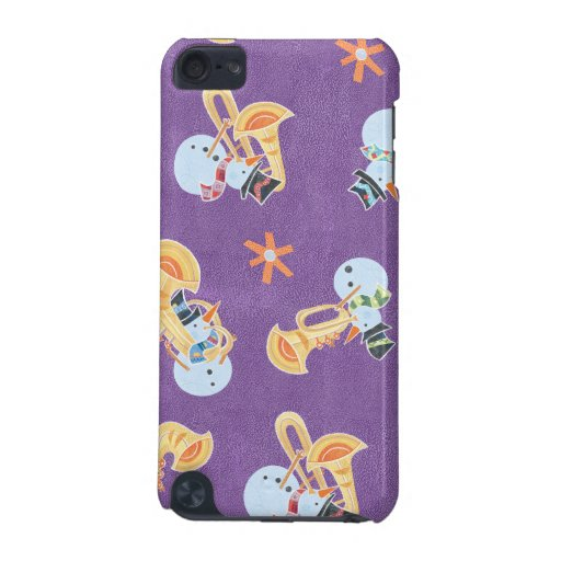 Snowman Musicians Making Christmas Holiday Music iPod Touch (5th Generation) Cover