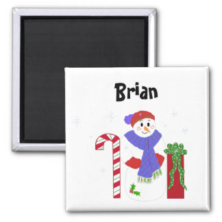 Snowman Name Tag Magnet