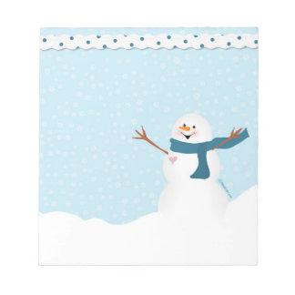 Snowman Notepad