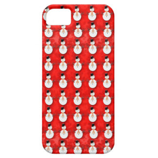 Snowman on Red Barely There iPhone 5 Case