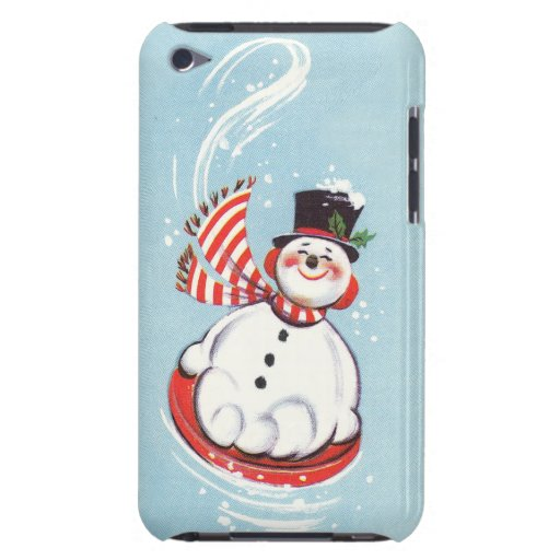 Snowman on Snow Disc Barely There iPod Cover