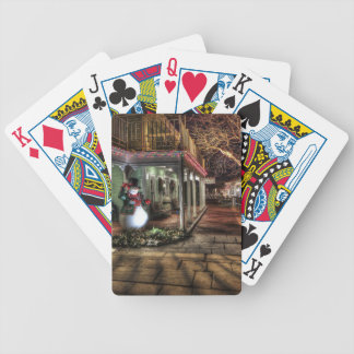 Snowman on the Porch in Winter Wonder Land Bicycle Playing Cards