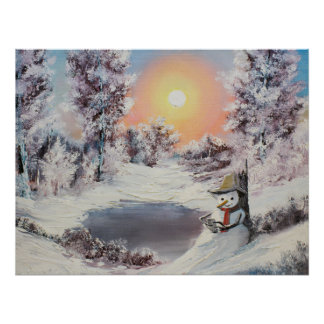 Snowman online poster