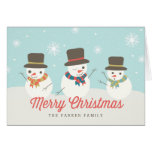 Snowman Party Custom Holiday Greeting Cards