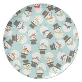 Snowman Party Holiday Plate