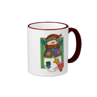 Snowman Patches Mug
