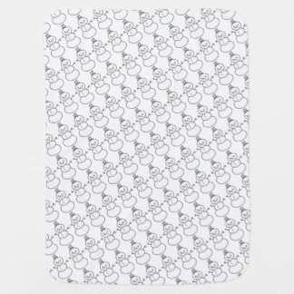 Snowman Pattern Blanket Pramblanket