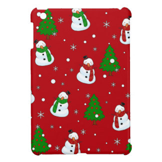 Snowman pattern case for the iPad mini