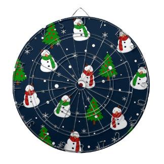 Snowman pattern dartboard