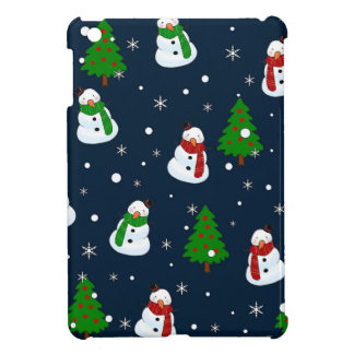 Snowman pattern iPad mini cover