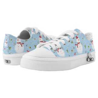 Snowman Pattern Low Tops