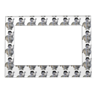 Snowman Pattern Magnetic Frame