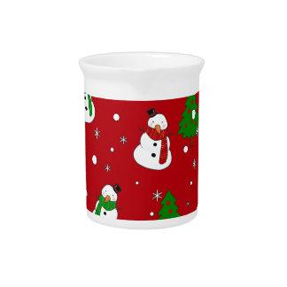 Snowman pattern pitcher
