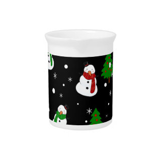 Snowman pattern pitcher