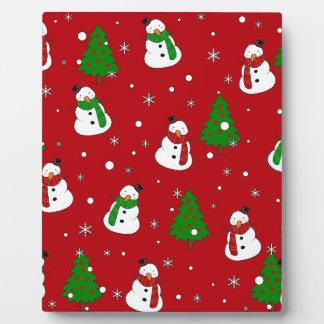 Snowman pattern plaque