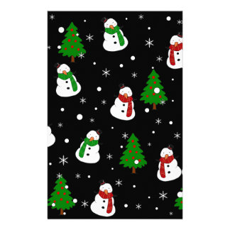 Snowman pattern stationery