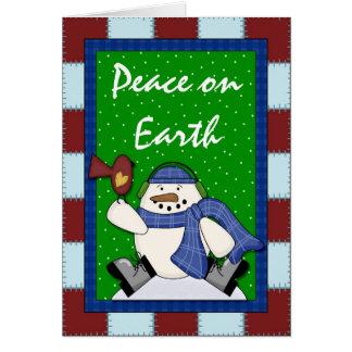 Snowman Peace on Earth - Snowmen Greeting Card