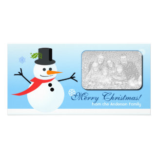 Snowman Picture Card