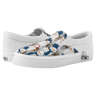 Snowman Pile Slip On Shoes