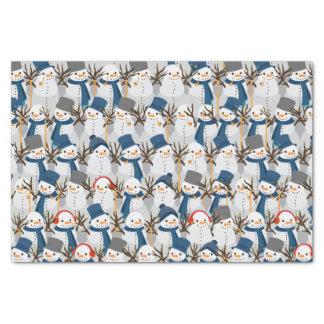 Snowman Pile Tissue Paper