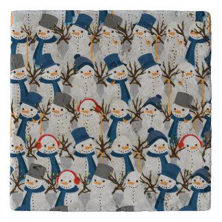 Snowman Pile Trivet