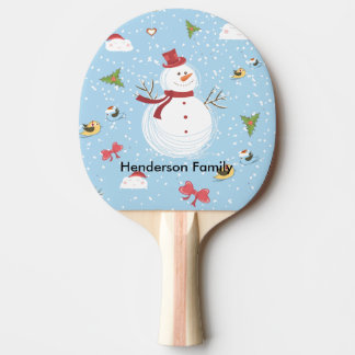 Snowman Ping Pong Paddle
