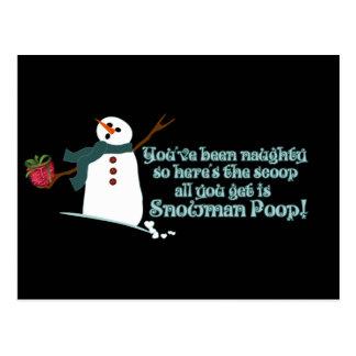 Snowman Poop Postcard