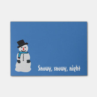 Snowman Post-it® Notes Sticky Note