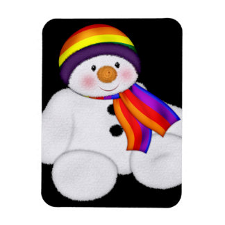 Snowman Pride Rectangle Magnets