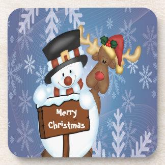 Snowman & Reindeer Coasters