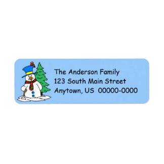 Snowman Return Address Avery Label Return Address Label