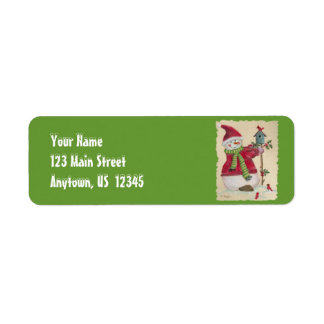 Snowman Return Address Labels