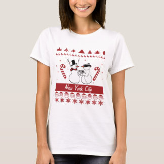 Snowman Robbery Ugly Christmas Sweater Any City