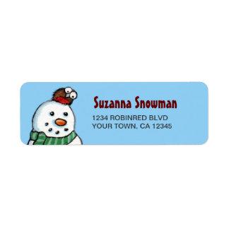 Snowman & Robin Return Address Labels