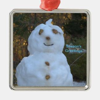 Snowman Season's Greetings Ornament Ornament