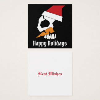 SNOWMAN SKULETONS BHQ SQUARE BUSINESS CARD
