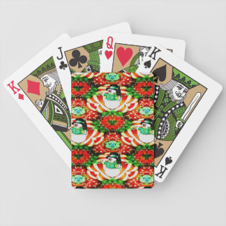 Snowman Slam Bicycle Playing Cards