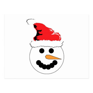 Snowman Smile Postcard
