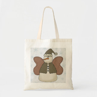 Snowman Snow Angel Gift Bag Canvas Bags